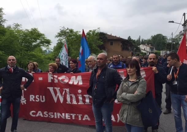 Protesta sciopero Whirlpool maggio 2018