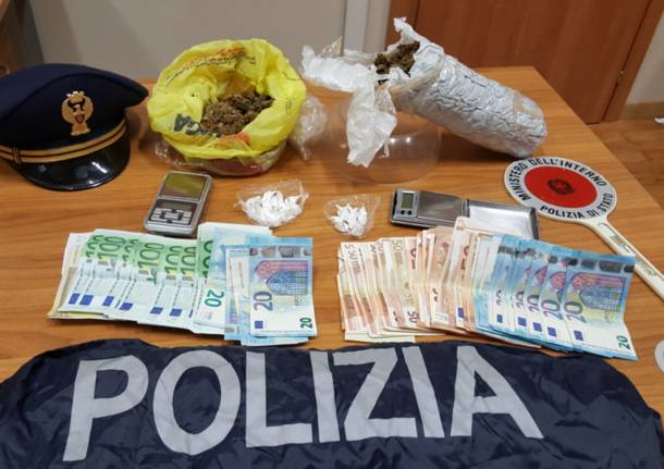 sequestro marijuana cocaina polizia busto arsizio