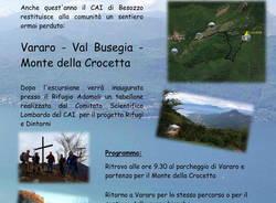 Vararo: inaugurazione del sentiero recuperato Val Busegia