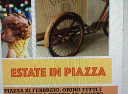 Arriva il gelato, la piazza si anima