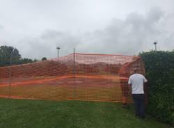 Iniziati i lavori alla pista di atletica di Calcinate degli Orrigoni