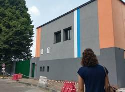 Colombo Gianetti: tocco biancoceleste sulla facciata