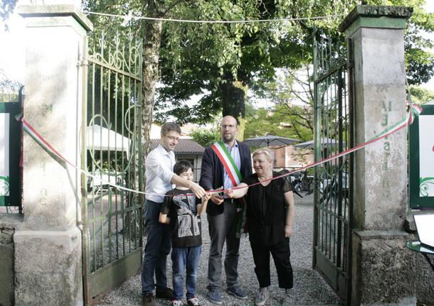Induno Olona: riaperto il giardino dell'ex Circolo