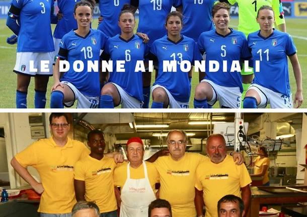 Le donne ai mondiali, gli uomini in cucina
