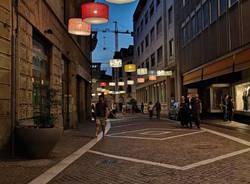Le lampade di via Manzoni