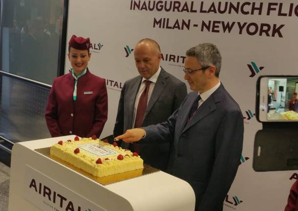 Decolla da Malpensa il volo per New York di Air Italy