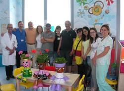 Pupazzetti in dono alla pediatria da parte del centro diurno luvino