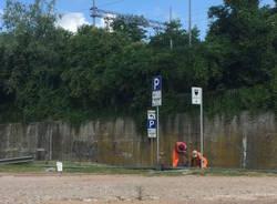 Via Cimone, il cantiere del nuovo parcheggio