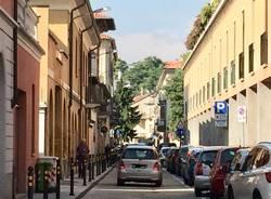 Via Robbioni con il nuovo marciapiede