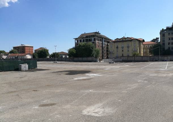 Il nuovo parcheggio della stazione di Busto