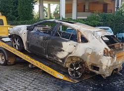 incendio auto via ponchielli