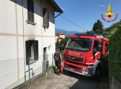 Incendio appartamento Luino