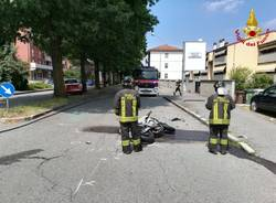 incidente auto moto busto arsizio