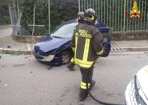 Incidente in via Curtatone a Gallarate
