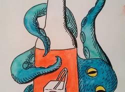 L'illustratrice misteriosa che ritrae i negozianti di Gallarate