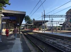 Lavori al binario 1 della stazione FS di Varese