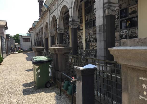 Le fontanelle del cimitero di Giubiano