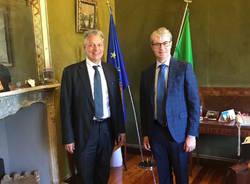 Nuovo prefetto Enrico Ricci con sindaco Davide Galimberti