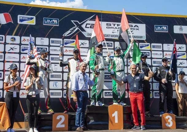 podio gara 1 gran premio italia motonautica xcat stresa 2018