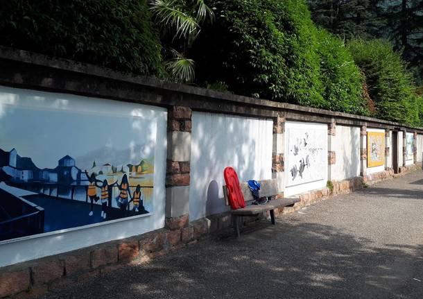 Porto Ceresio: nuovi murales sulla passeggiata a lago