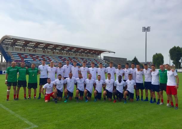 Il raduno della Pro Patria allo Speroni