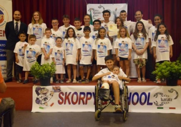 Le premiazioni dello Skorpion Karate
