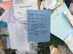 Un messaggio della Galilei sull'albero di Falcone e Borsellino
