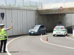 Venegono Superiore - Sottopasso incidente lampada