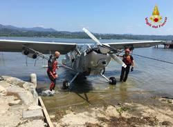 aereo caduto lago di varese