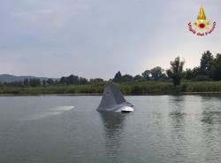 Aereo nel lago a Cazzago Brabbia