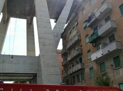 I vigili del fuoco varesini a Genova