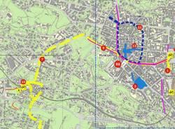 Ciclabile Stazioni - Lago: la mappa