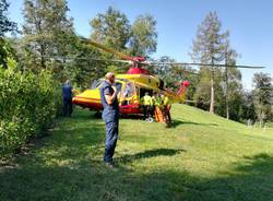 Ciclista cade a Montegrino, interviene l'elisoccorso