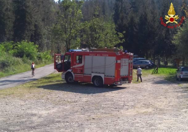 Ciclista soccorso a Montegrino