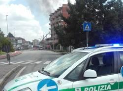 Incendio in palazzo in costruzione a Gallarate