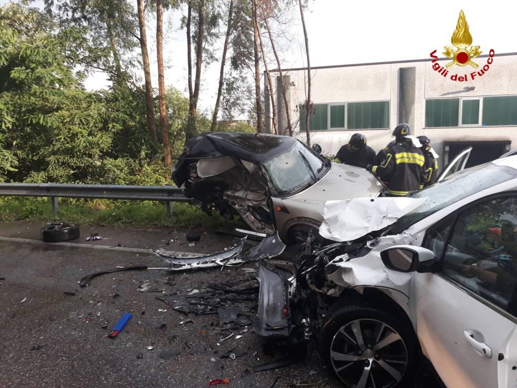 Incidente stradale Gavirate Sp1 9 agosto 2018
