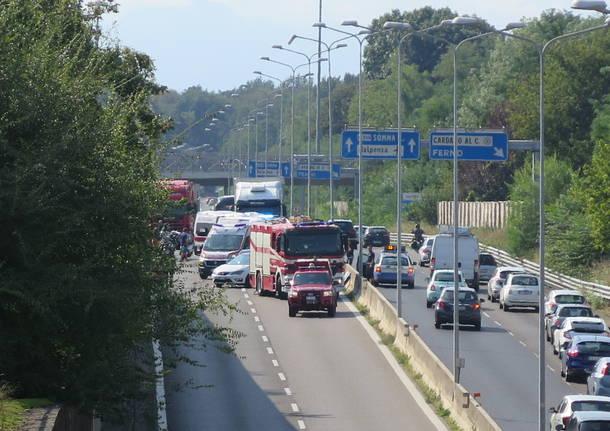 Incidente sulla 336 a Cardano al Campo