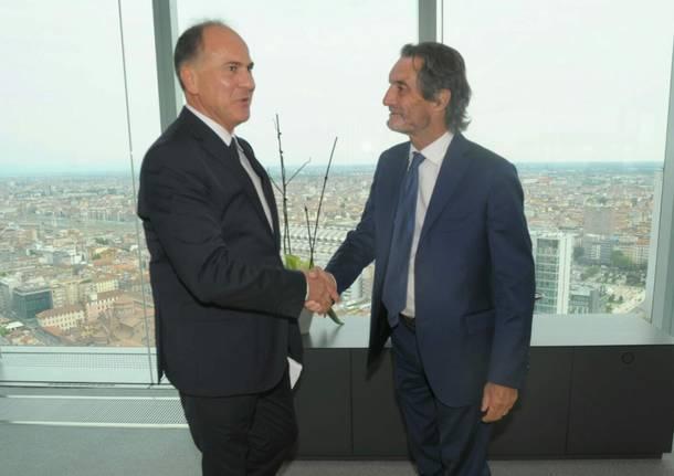 Incontro tra presidente fontana e presidente ferrovie dello stato