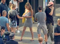 """Jannifer Aniston e Adam Sandler a Malpensa per """"Murder Mystery"""