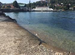 Lago Maggiore in magra, estate 2018