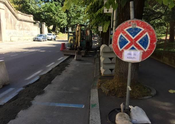 pista ciclabile a Varese