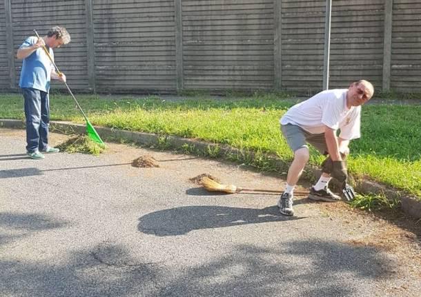 residenti via del chisso pulizia parco
