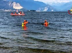 ricerche disperso lago maggiore vigili del fuoco