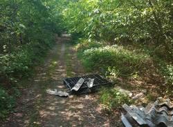Rifiuti bosco Samarate 2018
