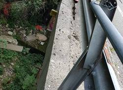 Le condizioni del ponte di Colmegna