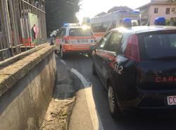 Scontro auto moto a Carnago