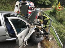 Incidente stradale tra Luino e Cremenaga