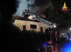 Incendio abitazione a Busto