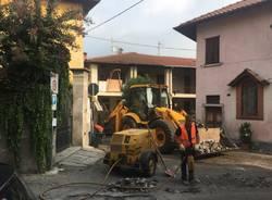 Lavori in corso a Cazzago Brabbia