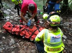 Montegrino: salvataggio ciclista